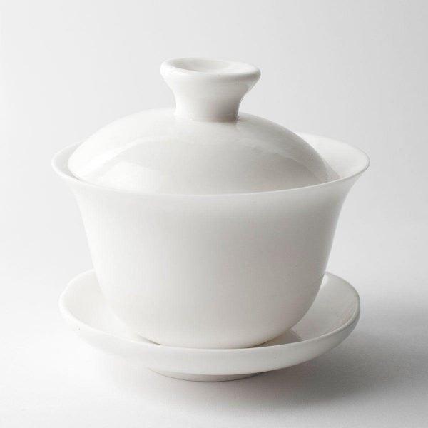 gaiwan de porcelana blanca