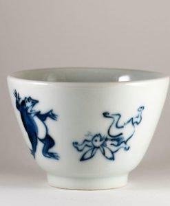 vaso japonés de procelana