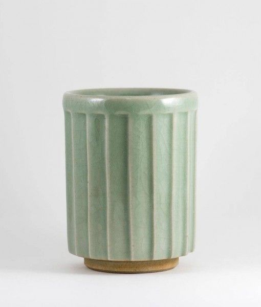vaso japonés facetado