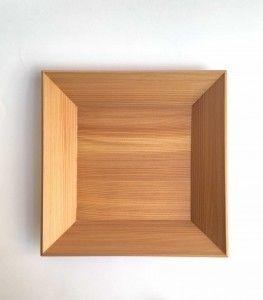bandeja japonesa de madera de ciprés