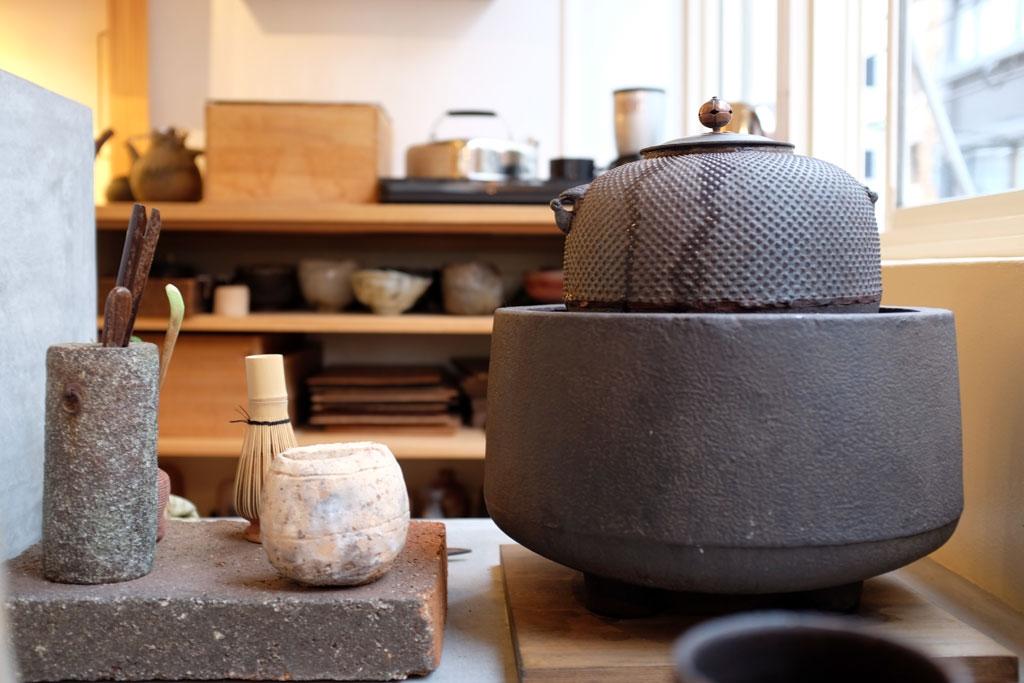 historia de los accesorios del té de japón