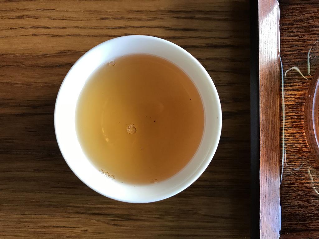 cuarta infusión de este té oolong de wuyi