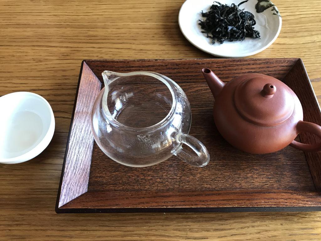 accesorios para la preparación del té oolong