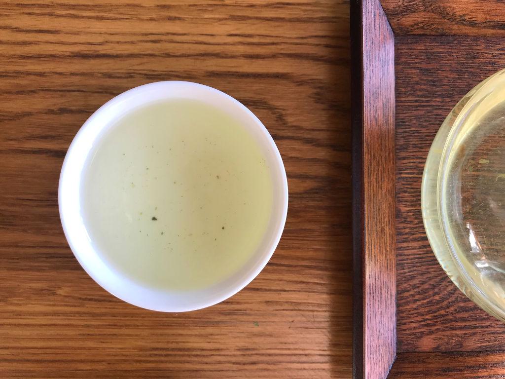 tercera infusión del té verde con arroz tostado